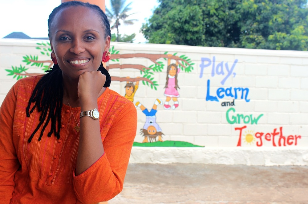 Lydie Hakizimana, founder of the Happy Hearts Day Care and Nursery School (Rwanda)