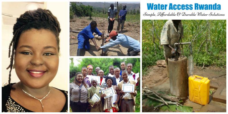 Christelle Kwizera, founder of Water Access Rwanda (WARwanda)