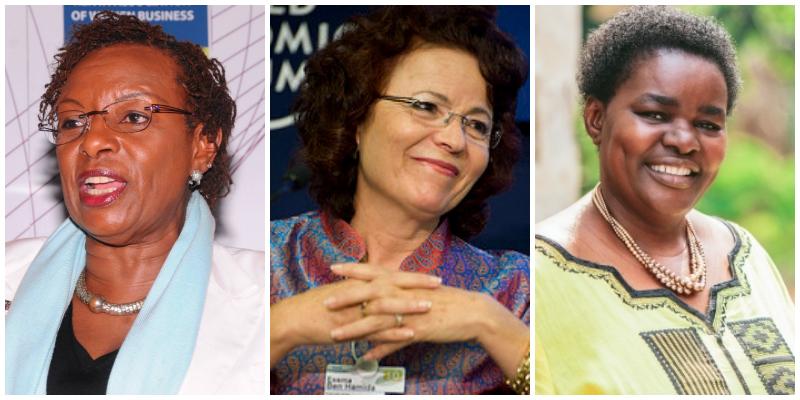 L-R: Dr Jennifer Riria,Essma Ben Hamida, Dr Victoria Kisyombe