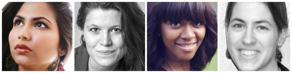 L-R:Carmel Nayanah,Line Moller-Christensen,Funeka Peppeta,Anna Neher