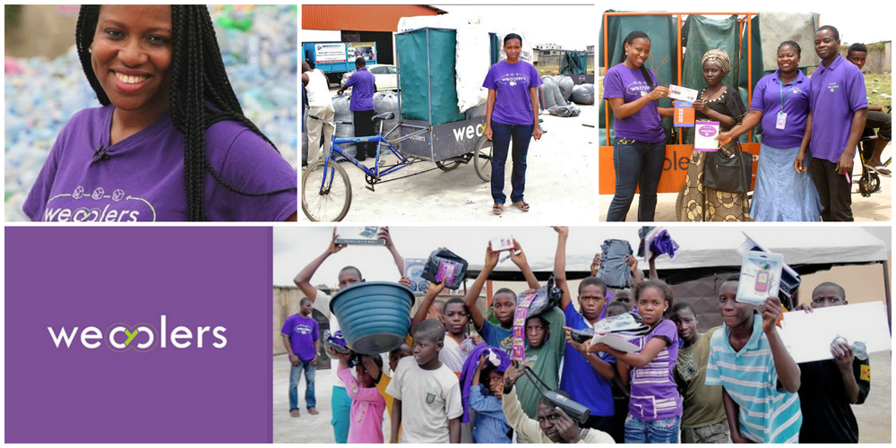 Bilikiss Adebiyi-Abiola , co-founder of  WeCyclers  (Nigeria)