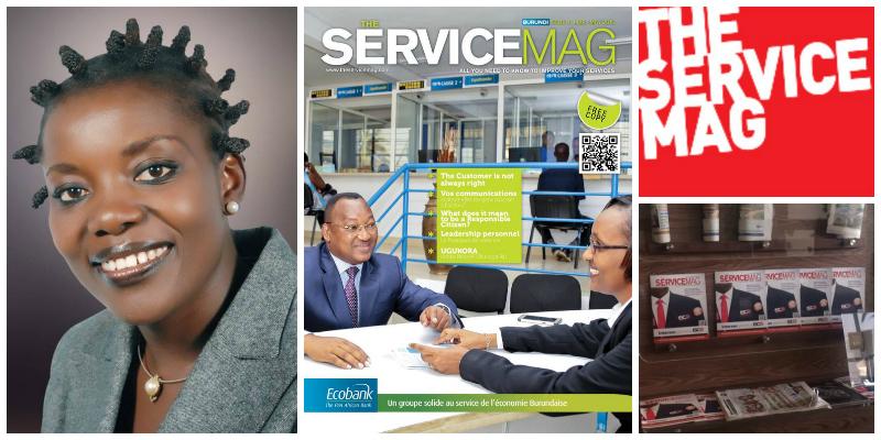 Sandra Idossou,founder of The ServiceMag (Rwanda)