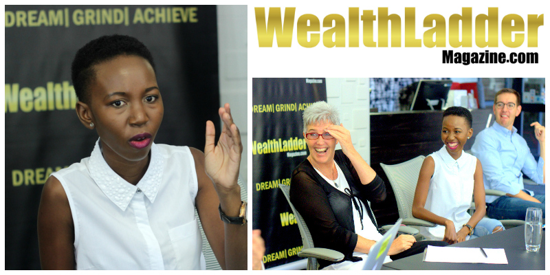 Beth Malatji , founder of  Wealth Ladder Magazine  (South Africa)