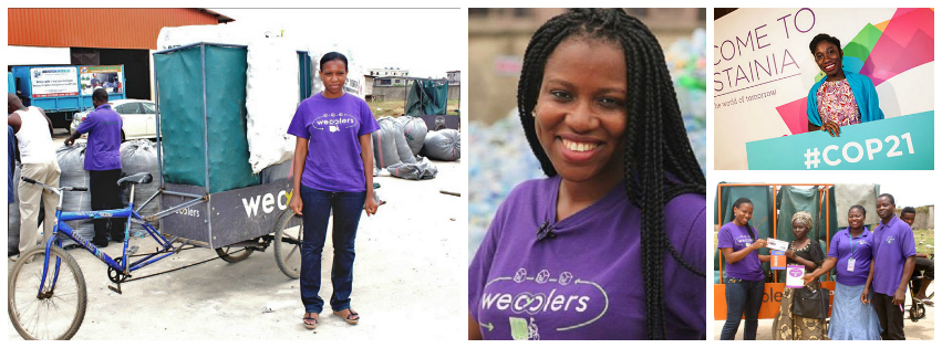 Bilikiss Abiola, founder and CEO of WeCyclers