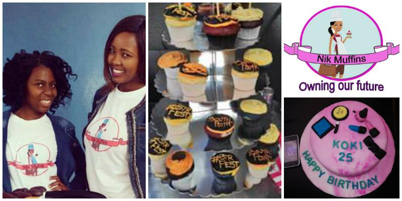 Tinyiko Mareane & Boitumelo Mogoai, founders of Nik Muffins (South Africa)