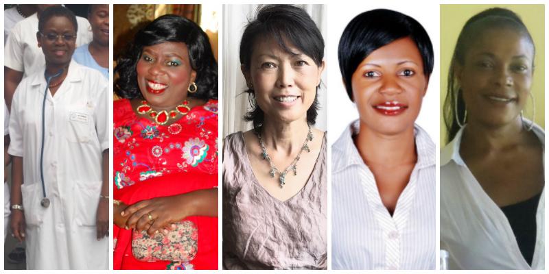 L-R:Berthe Bonou-Zanou,Fatou Saine Gaye, Aline Wong, Joyce Kyalema, Brenda Omba Kayumba Lacey