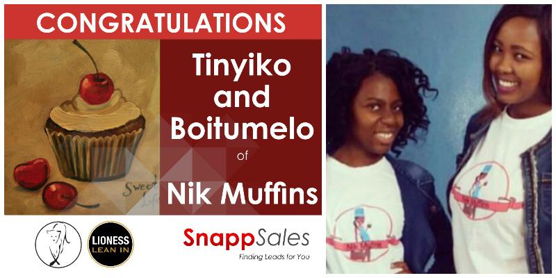 Tinyiko Mareane and Boitumelo Mogoai, founders of Nik Muffins