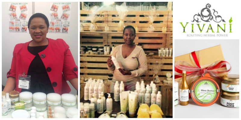 Ntshantsha Tafeni-Majombozi , founder of  Yivani Naturals  (South Africa)