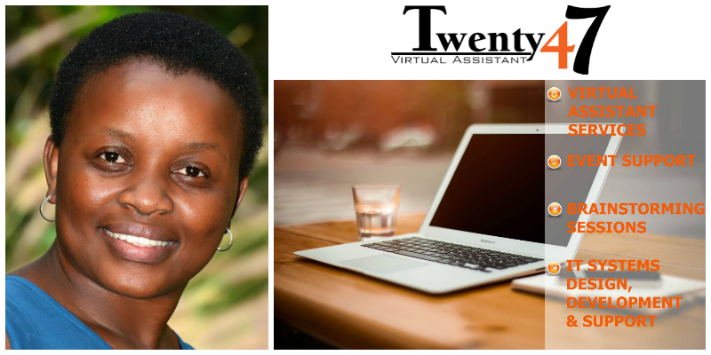 Tariro Makina, founder of Twenty47 Virtual Assistant (Zimbabwe)