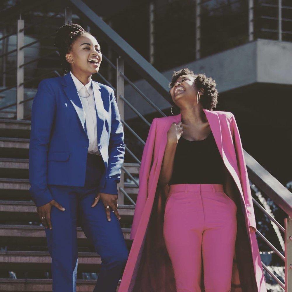Amanda Sibiya &Charmaine Ngobeni, co-founders of Conte Creatives and Conte Magazine