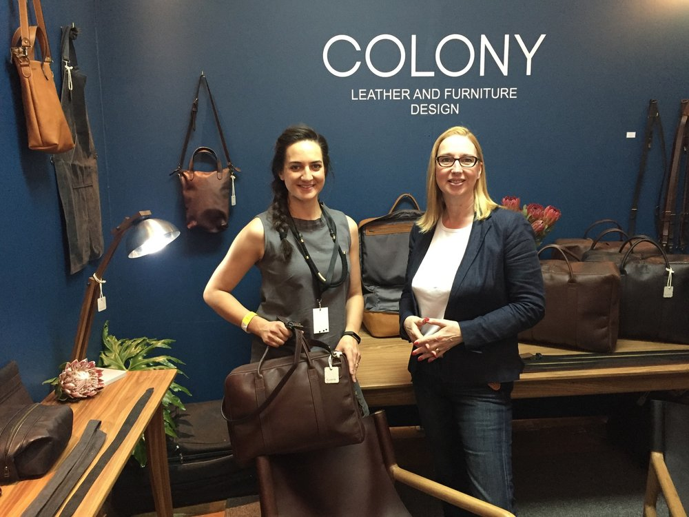 For lovers of high quality and beautifully designed leather goods, proudly made in South Africa, Colony was the place to be at the fair. Founder Lisa Ackroyd was on hand to showcase her latest and highly desirable range of handbags, laptop bags and luggage.