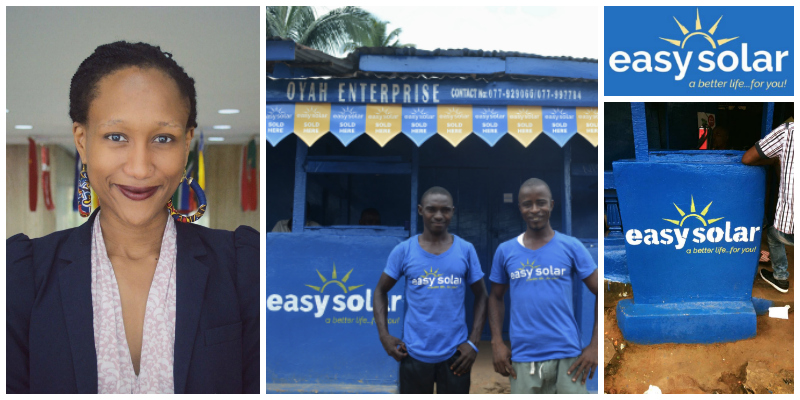 Nthabiseng Mosia , co-founder of E asy Solar  (Sierra Leone)