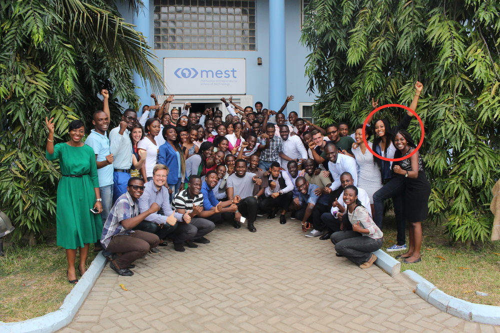 Kelechi and Tolu at MEST – Skrife founders.JPG