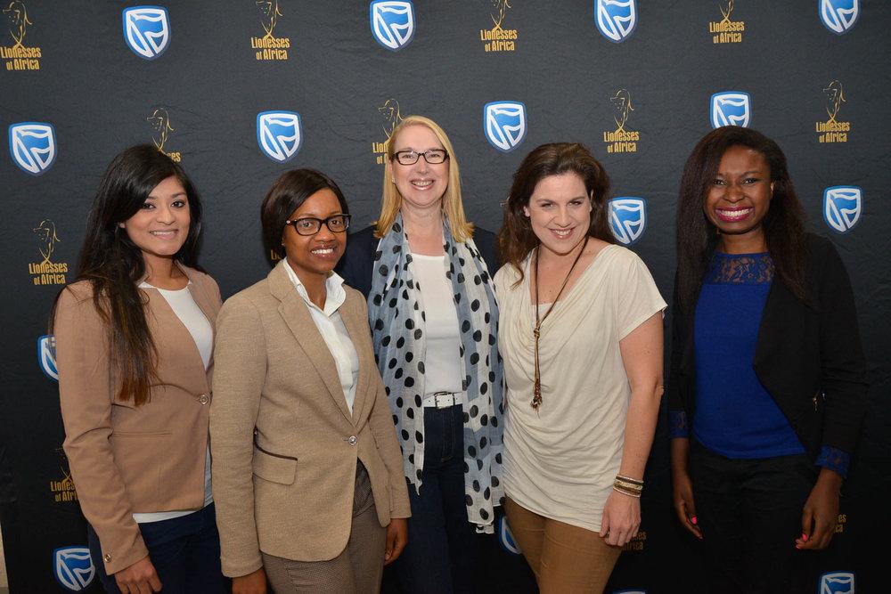 Speakers L-R:Tashmeen Authar,Nomusa Ndwandwe, Melanie Hawken, Vicki Bain, Vere Shaba