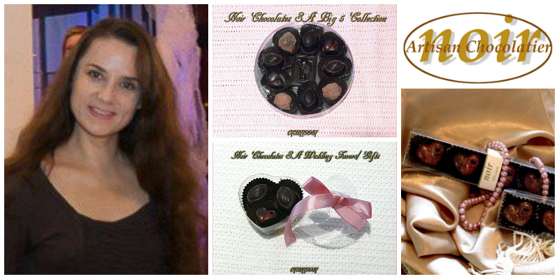 Sanja Hanekom ,founder of Noir Chocolates SA (South Africa)
