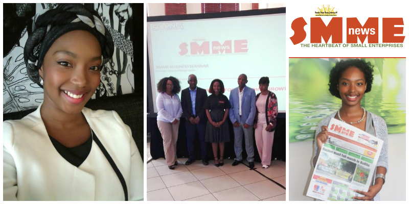 Tinky Ogle, founder of SMME News (South Africa)