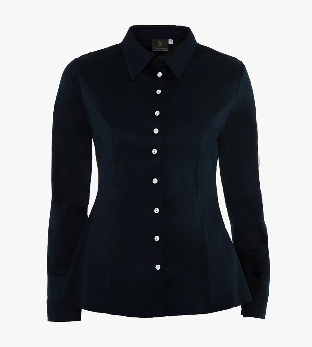 Navy shirt front with contrast buttons_Pride Journey.jpg
