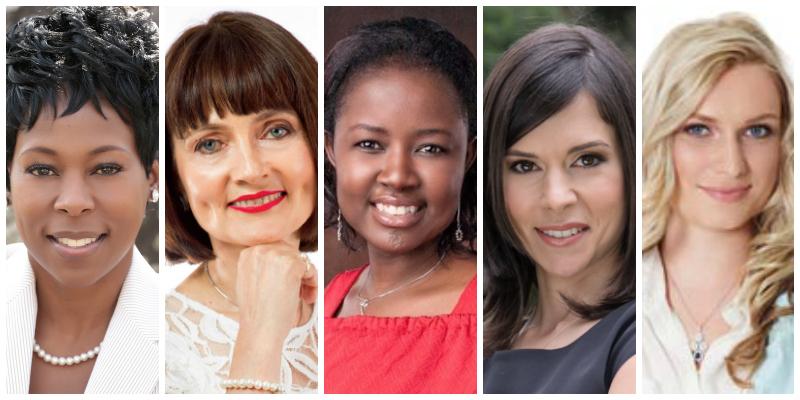 L-R: Tumi Frazier, Shirley Anthony,Mulenga Kasoma, Lori Milner, Anna Shilina