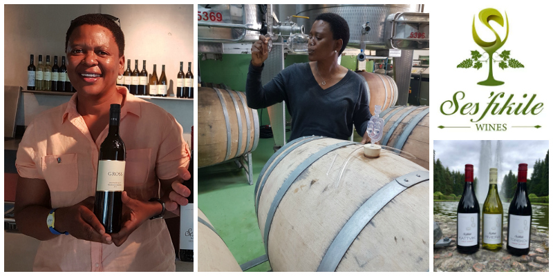 Nondumiso Pikashe, founder of Ses'fikile Wines (South Africa)