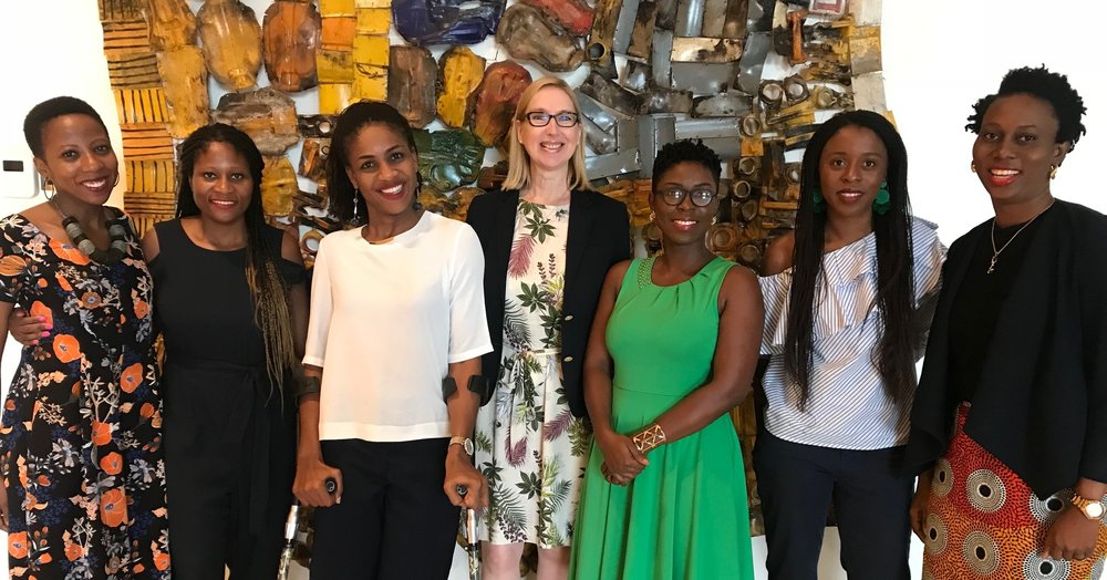 Kimberley and Priscilla Addison, Farida Bedwei, Melanie Hawken, Audrey Forson, Akosua Afriyie-Kumi, Ethel Cofie