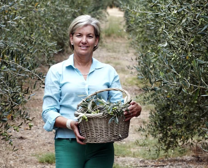 Brenda Wilkinson , co-founder of the multi award-winning Rio Largo Olive Oil from South Africa