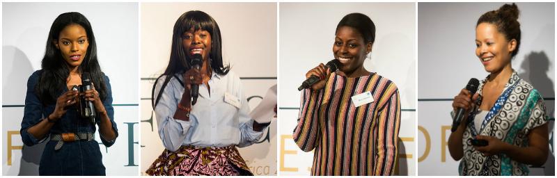 L-R: Mimi Shodeinde, Eva Sonaike, Afua Dabanka, Hazel Aggrey-Orleans