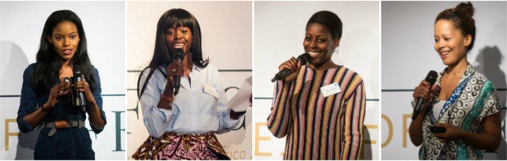 Pitch Session 2 -L-R: Mimi Shodeinde, Eva Sonaike, Afua Dabanka, Hazel Aggrey-Orleans