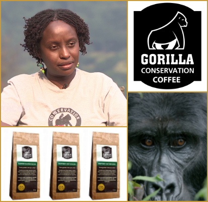 Dr Gladys Kalema-Zikusoka - Founder of Gorilla Conservation Coffee (Uganda)A high impact coffee brand from Uganda, saving the endangered gorilla's one sip at a time.gladys@ctph.org    www.ctph.org