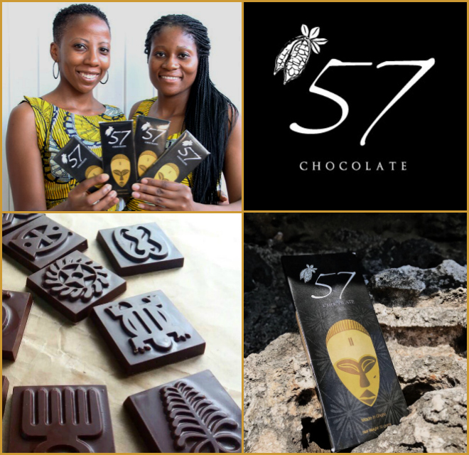 Kim Addison -  Co-founder of '57 Chocolate (Ghana)A ground-breaking, artisanal bean-to-bar chocolate brand, creating added value for Ghana, the world's second largest cocoa exporter.kimberaddi@gmail.com    www.57chocolategh.com