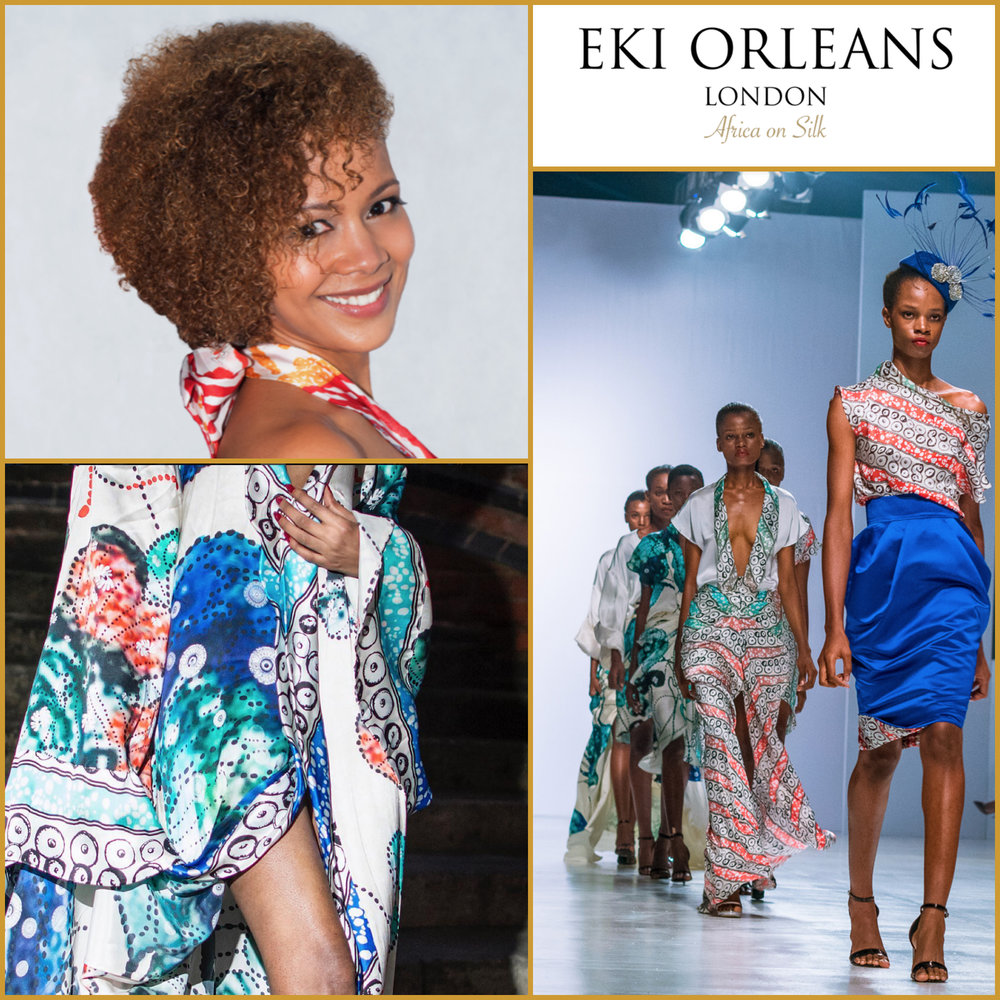 Hazel Aggrey Orleans - Founder of Eki Orleans (UK)A luxury African printed silk design brand.mail@ekiorleans.com   www.ekiorleans.com