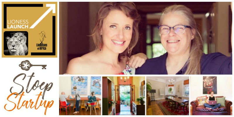 Carrie Leaver and Shona McDonald , founders of Stoep Startup Co-Working & Stay (South Africa)