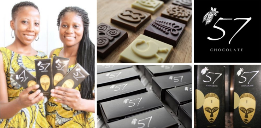 Kimberly and Priscilla Addison , co-founders of  '57 Chocolate  (Ghana)