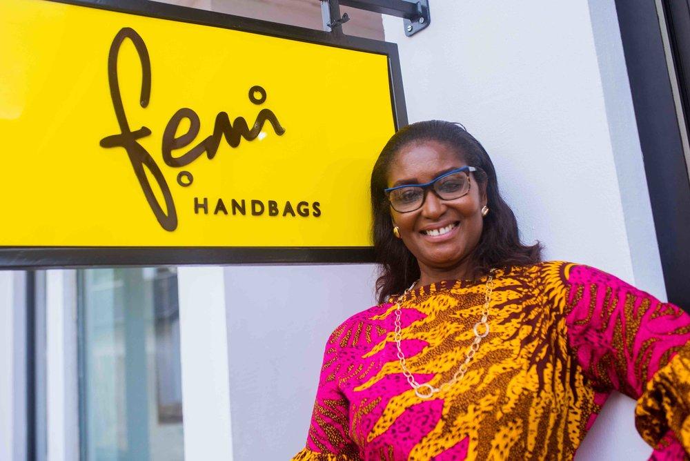 Femi Olayebi, founder of Femi Handbags