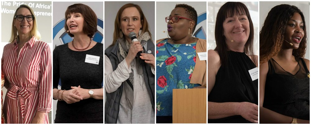 L-R: Melanie Hawken,Carla Wentzel,Meredith Kelly,Thabiso Mahlape,Mel Finch-Keshwar,Mbali Masike