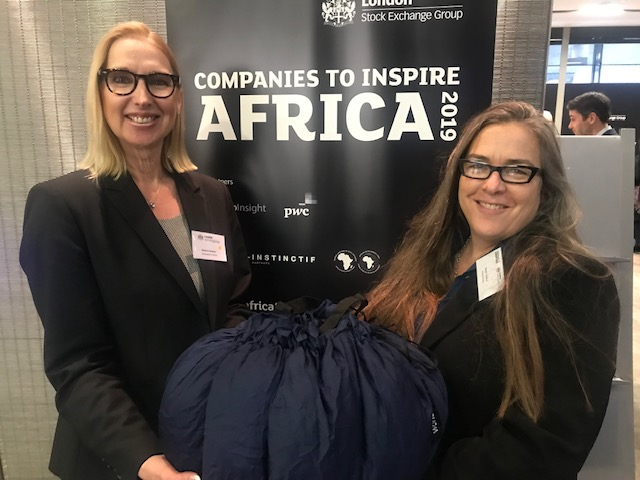 Melanie Hawken, founder and ceo of Lionesses of Africa with Sarah Collins, founder of Wonderbag, a nominee in this year's Companies to Inspire Africa 2019 report.