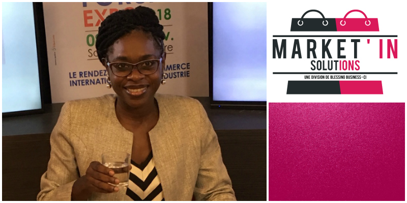 Suzanne Mouelle , founder of Market'In Solutions (Cote d'Ivoire)