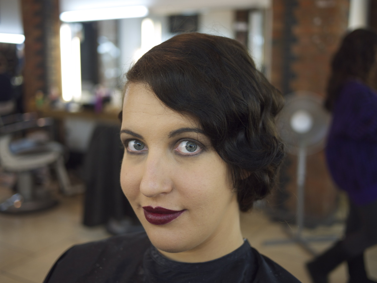 20's finger waves and make-up - November 2011   CB-MA London