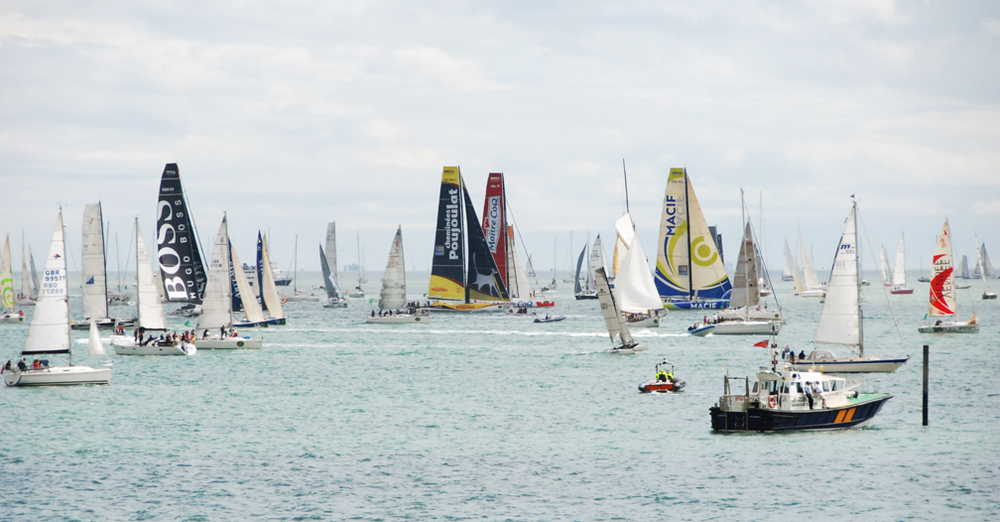 Cowes Week viewed from the terrace