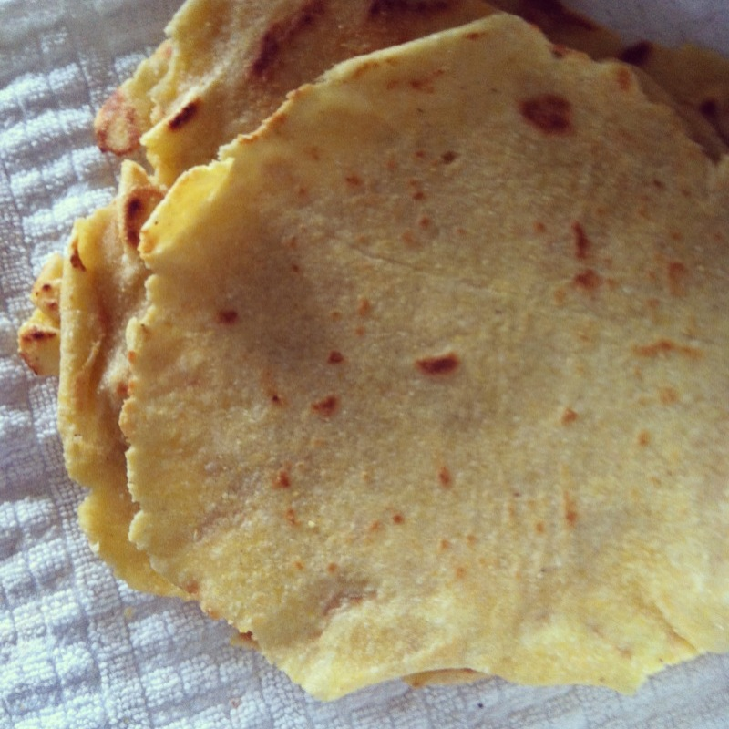 From attempting to make corn tortillas--to buying Mission tortillas again :)