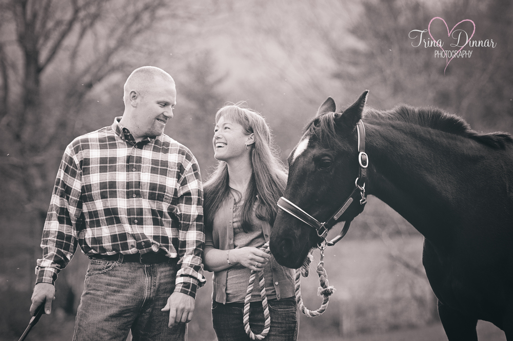 In on West Baldwin, Maine farm, the couple plan a beautiful Maine wedding. They'll include their horse and other farm animals.