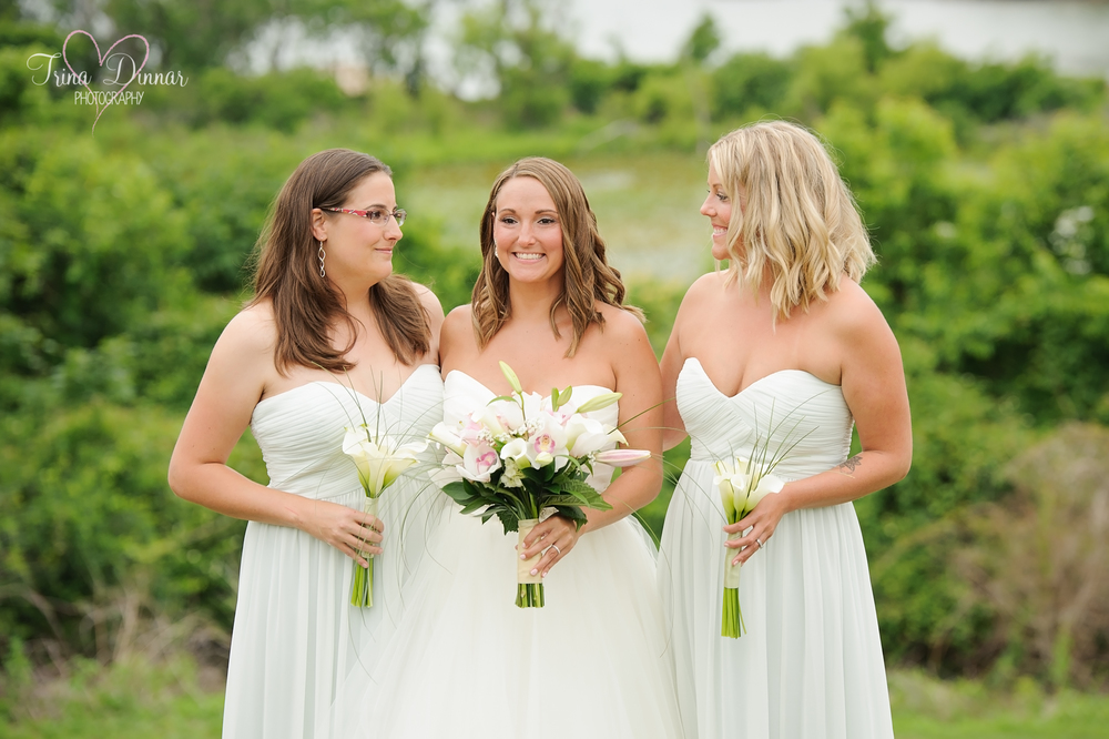 Bride Becca and her two lovely bridesmaids