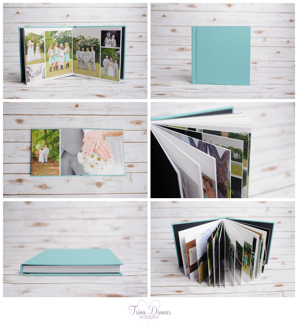 Wedding album from Maine wedding photographer, Trina Dinnar Photography.