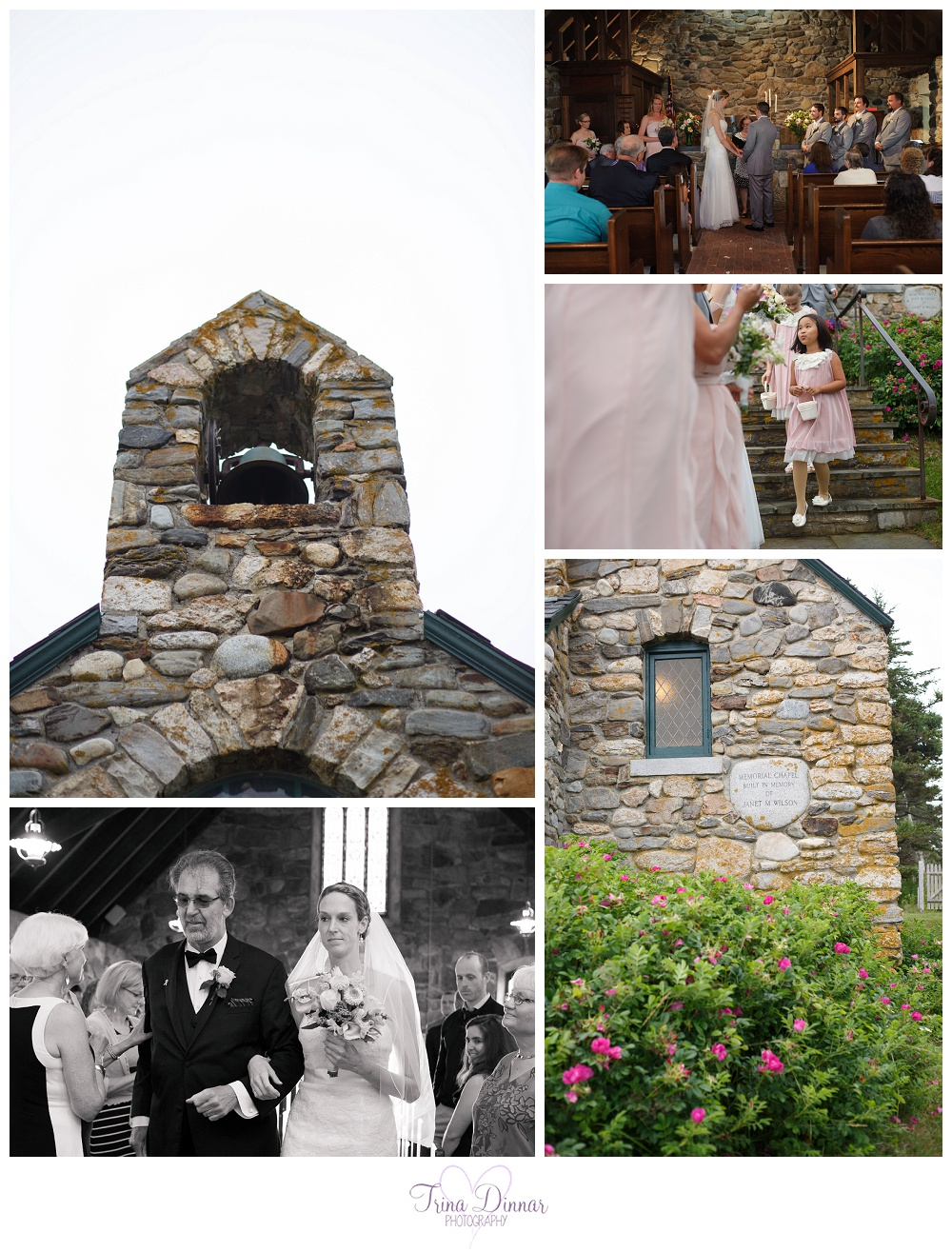 Janet M. Wilson Memorial Chapel in East Boothbay Wedding Ocean Point