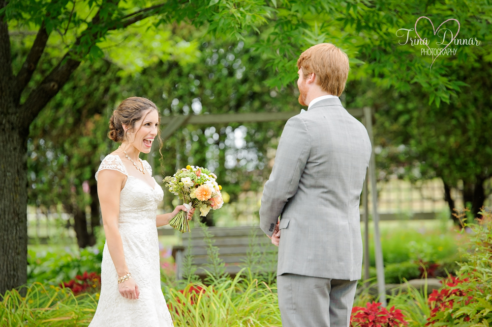Maine Wedding First Look Photos
