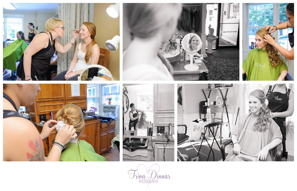 Cassiel's Salon and Spa in Lewiston, ME. Wedding hair and make up.