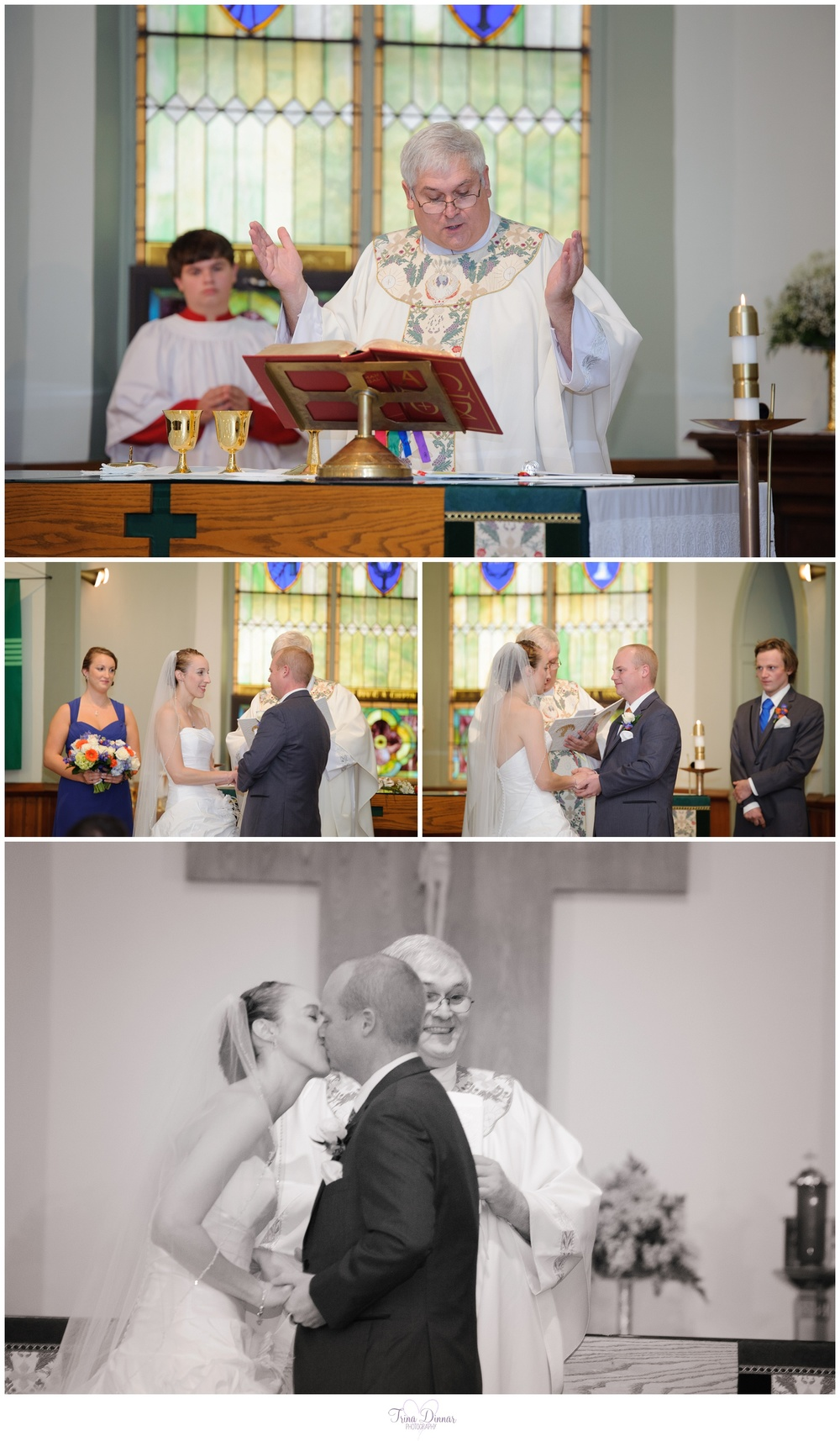 St. Mary's Church Wedding - Rollinsford, NH