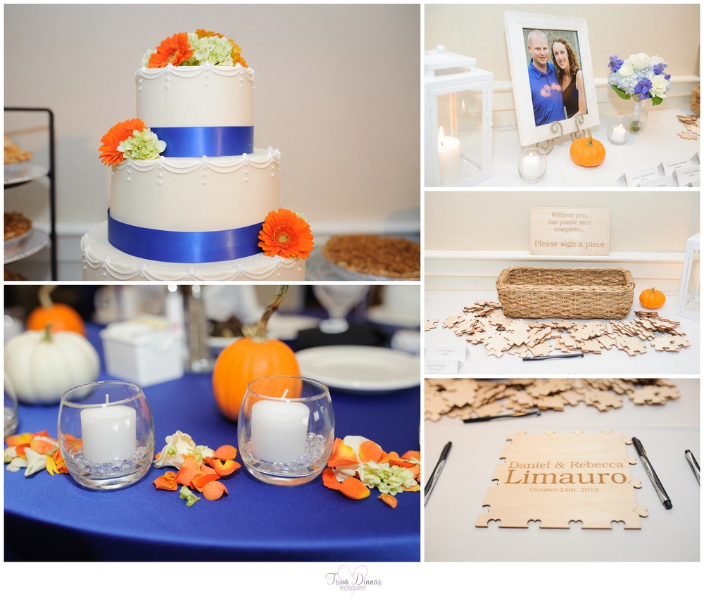 Fall Themed Wedding Details