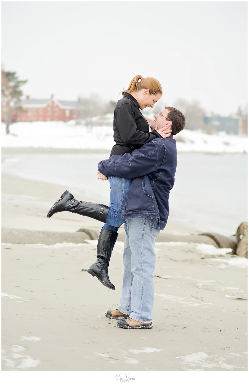 maine engagement portraits
