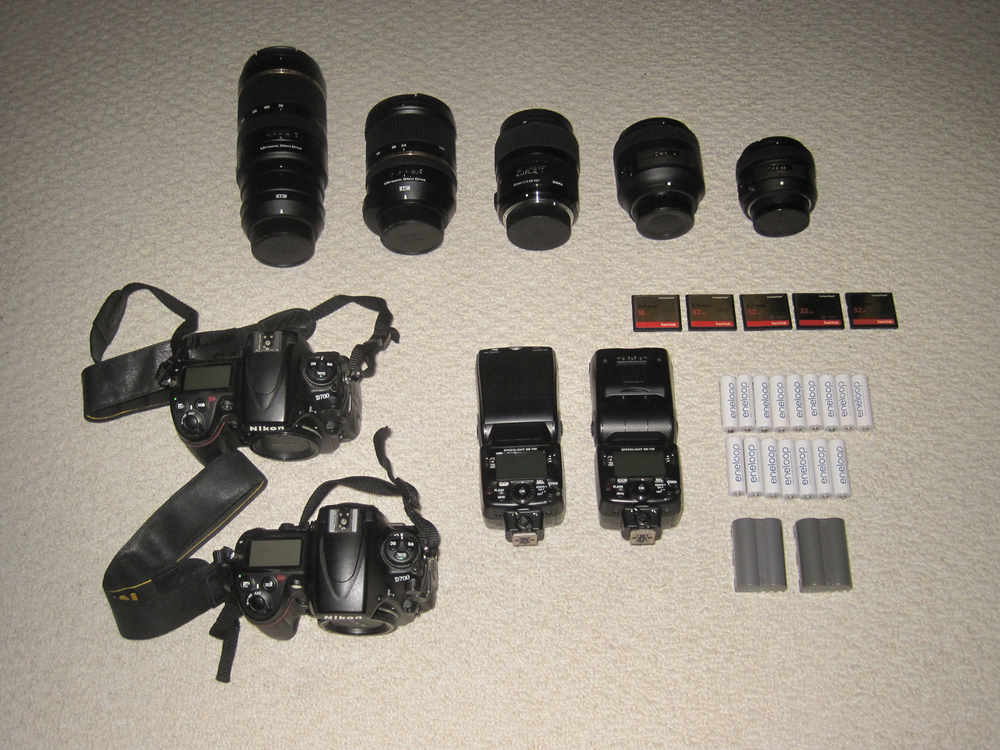 My most used wedding photography gear.