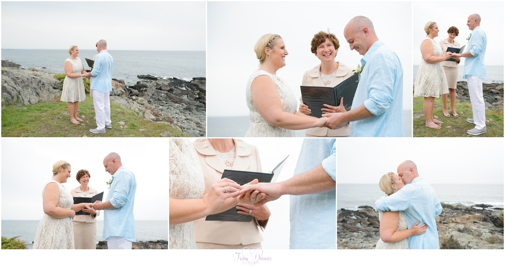Maine wedding ceremony officiated by Julie Draper from Weddings in Maine